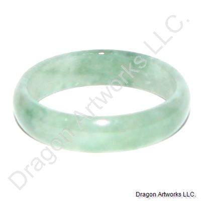 Light Green Jade Ring Band of Robust Body