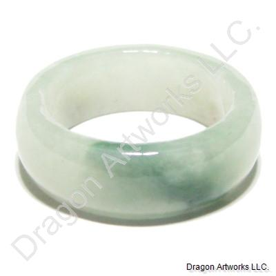 Chinese Jade Band Ring of Courage