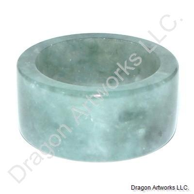 Sparkling Wide Jade Thumb Ring