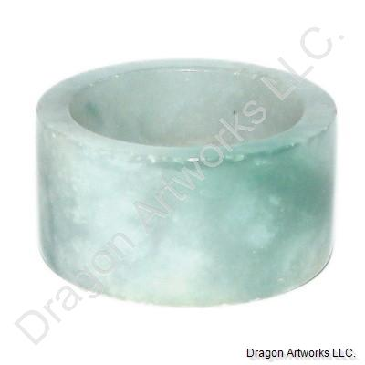 Chinese Green Jade Thumb Ring of Satisfaction