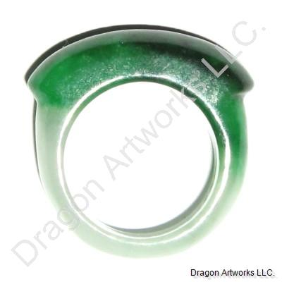 White Green Jade Ring of Mental Healing