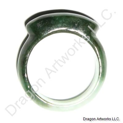 Green Jade Ring for Leaders