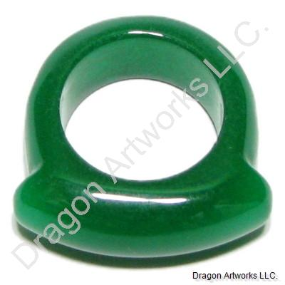 Dark Green Jade Ring of Mature Beauty