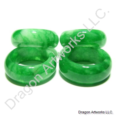 Amazing Mixed Green Chinese Jade Rings