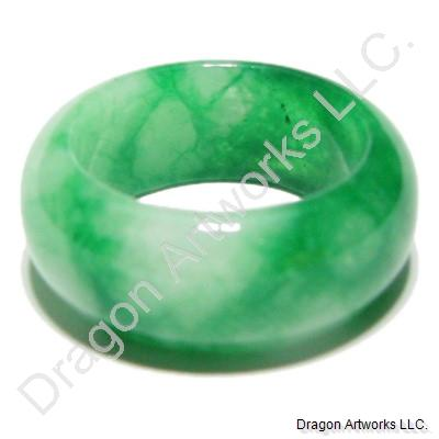 Safe Travelling Green Jade Ring