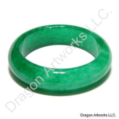 Chinese Green Jade Ring of Revitalization