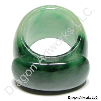 Green Jade Ring of Healing Energy