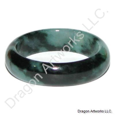 Heavenly Chinese Dark Green Jade Ring