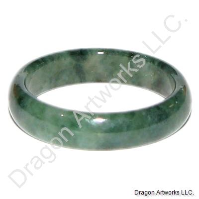 Forever Happiness Green Jade Ring Band
