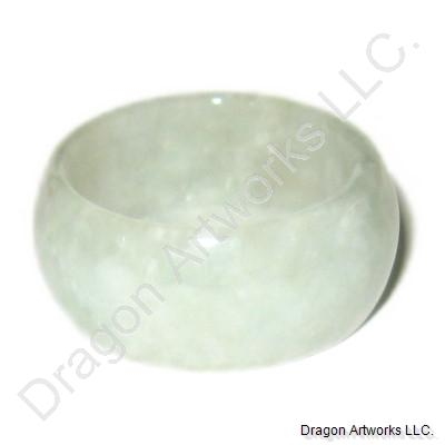 Whitish Green Jade Ring of Calmness