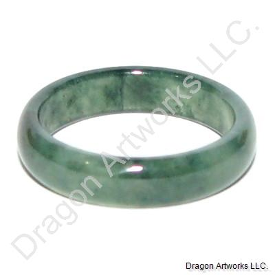 Peaceful Dark Green Jade Ring