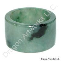 Green Jade Thumb Ring of Refinement