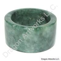 Energy Generator Green Jade Thumb Ring
