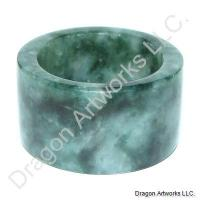 Noble Chinese Green Jade Thumb Ring