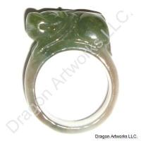 Chinese Carved Jade Ring of Luck