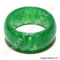 Chinese Green Jade Ring of Thanks