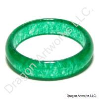 Chinese Green Jade Ring of Admiration