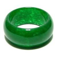 Amazing Beauty Wide Dark Green Jade Ring
