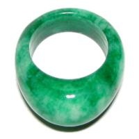 Chinese Body Strength Green Jade Ring