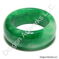 Mixed Green and White Chinese Jade Ring