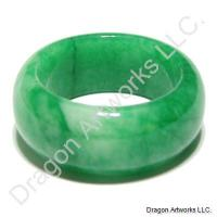 Chinese Green Jade Ring of High Ability