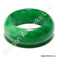 Chinese Green Jade Ring of Stimulation