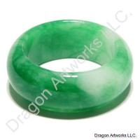 Best Wishes Whitish Green Jade Ring