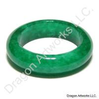 Chinese Strong Body Green Jade Ring