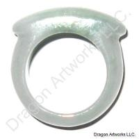 Carved Chinese Jade Ring of Full Life